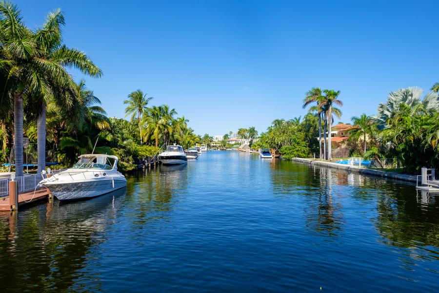 Cape Coral Florida Wasserstraße