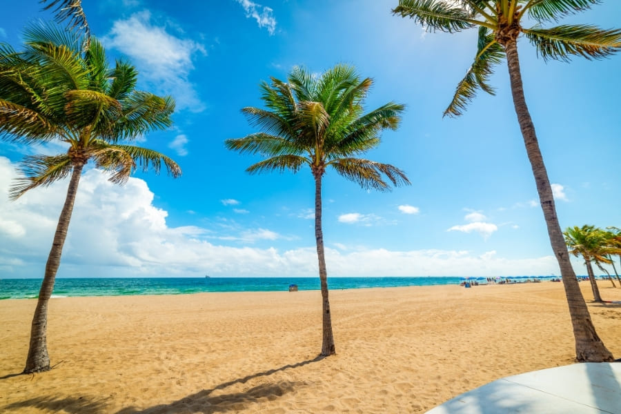 Las Olas Beach in Fort Lauderdale Florida