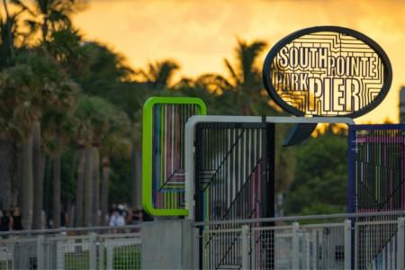 South Pointe Park Pier in Miami Florida