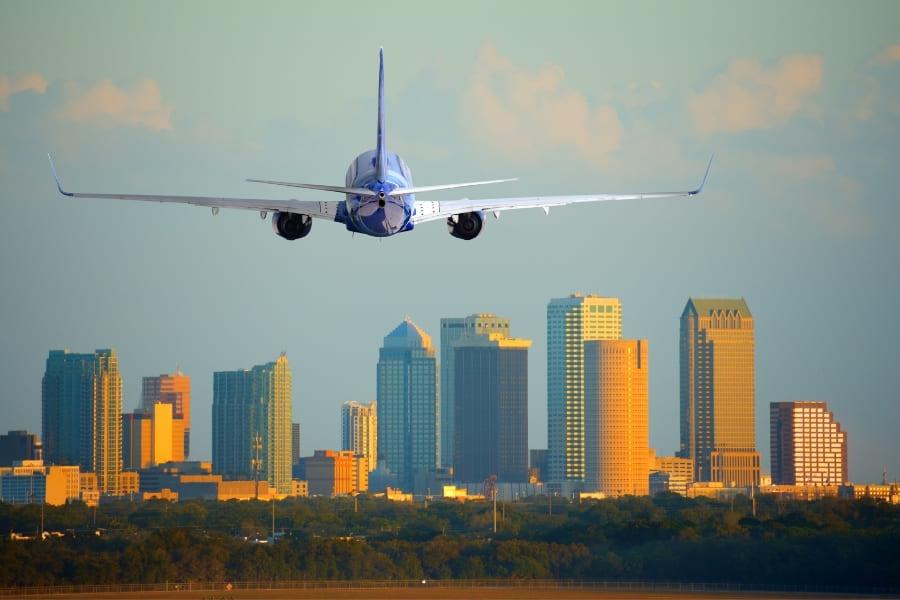 Tampa Florida Flugzeug startet