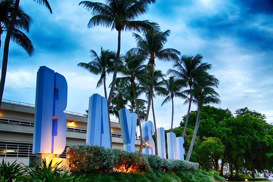 Bayside Marketplace Logo in Miami Florida