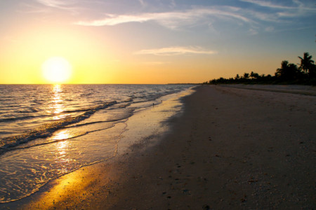 Bowmans Beach auf Sanibel Island Florida
