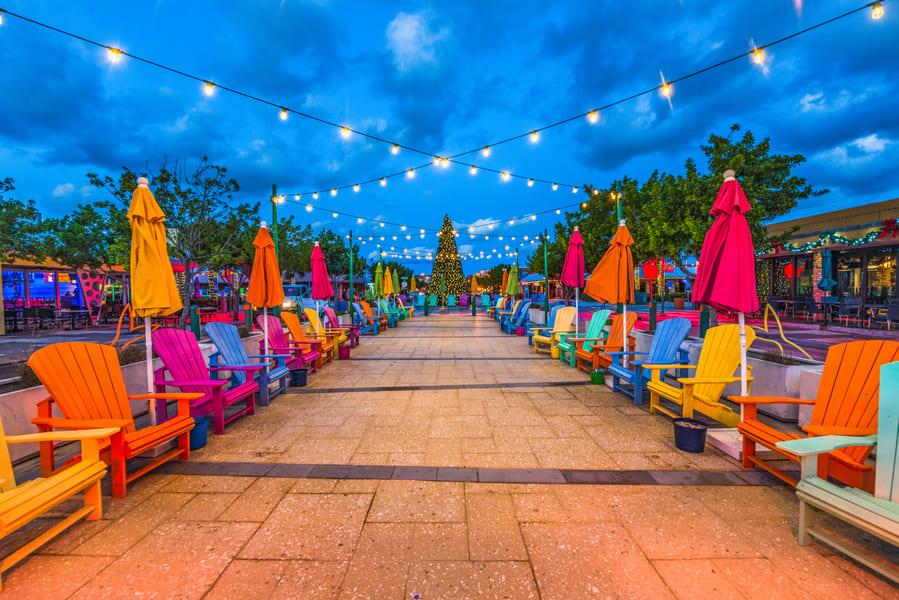 Fort Lauderdale Florida einkaufen unter freiem Himmel