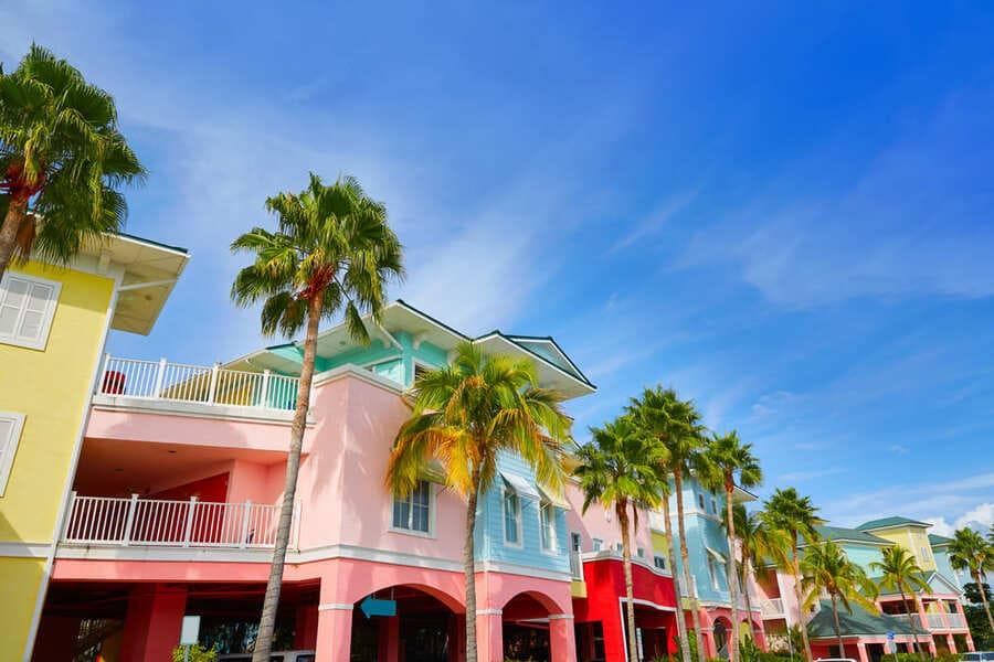 Fort Myers Florida Häuser in der Stadt