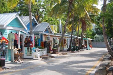 Key West Florida Einkaufsstraße