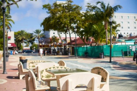 Little Havana in Miami Florida Domino Tische Calle Ocho